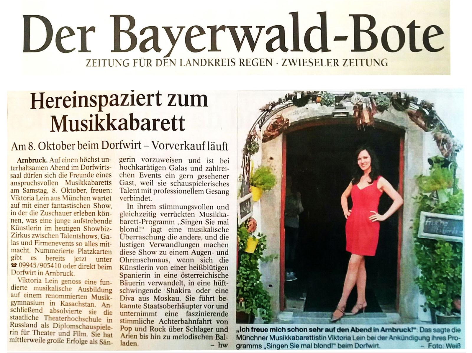 musik kabarett im bayerischer wald