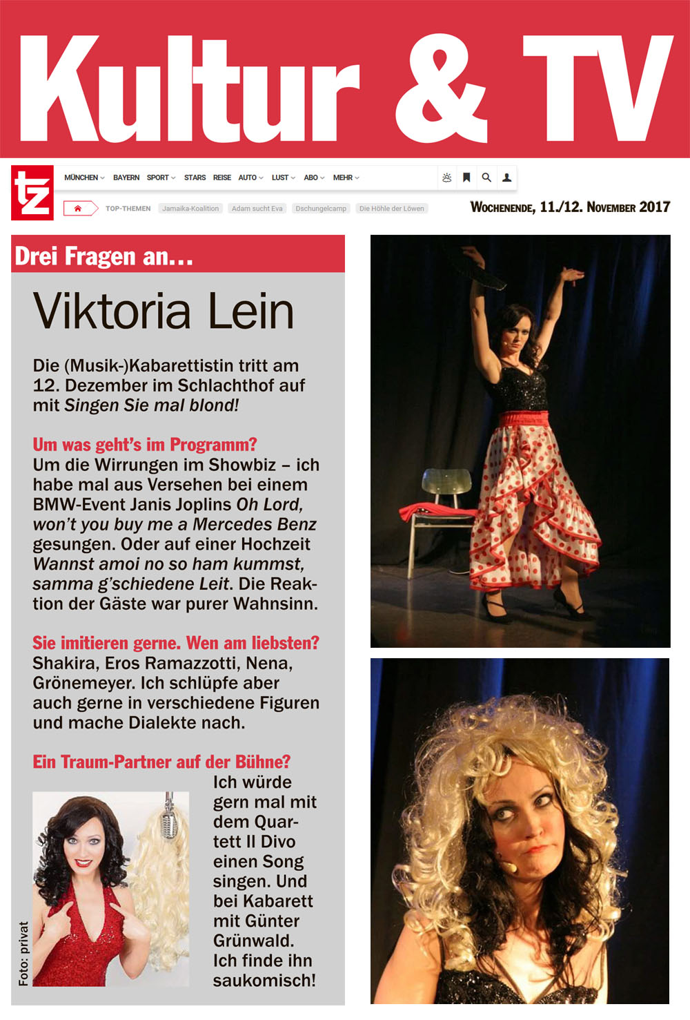 Komödianten, Kabaretisten, Frauen Kabarett,Musik Kabarett