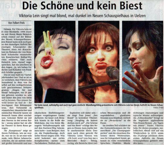 Dannenberg Hellas Theaterclub, Musik comedie und kabarettistin viktoria leinUelzen kabarett