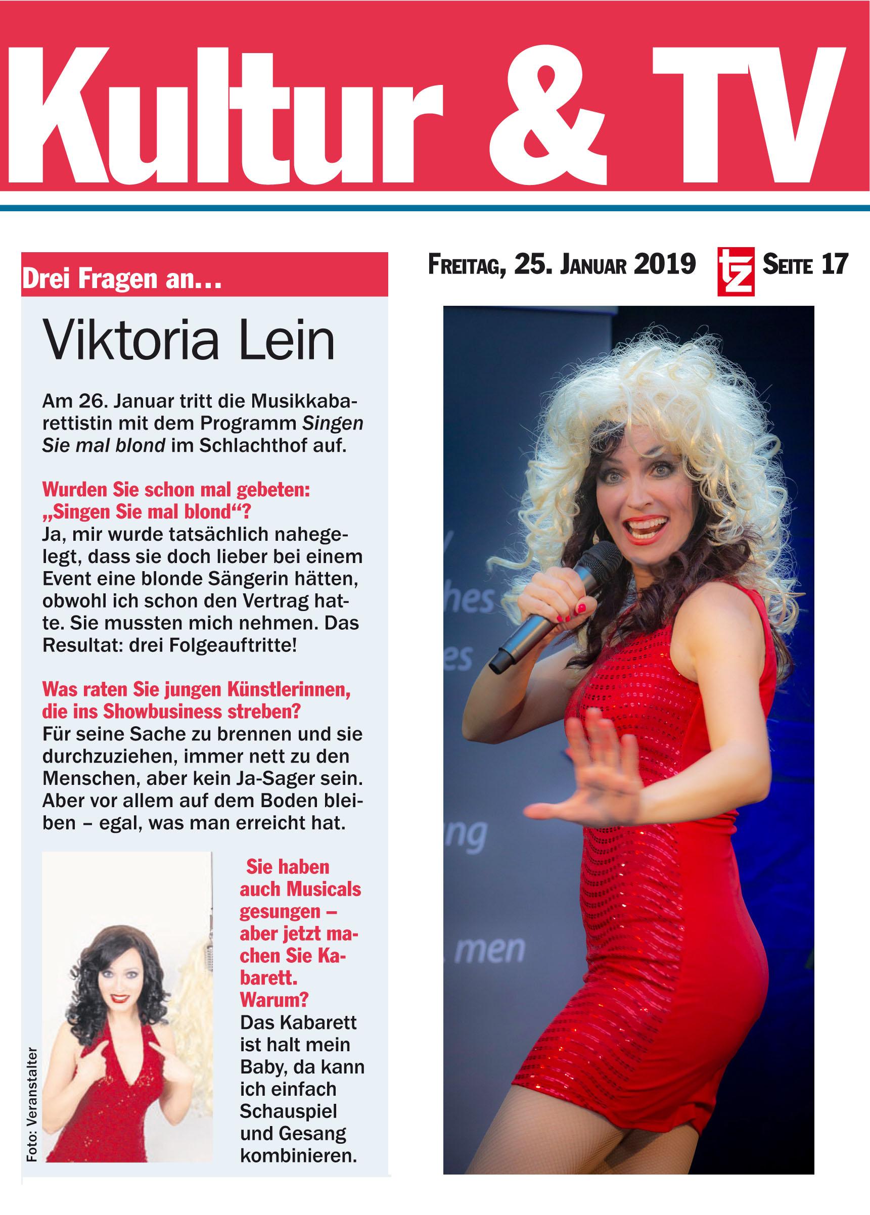 TZ München Viktoria lein im Schlachthof München die drei Fragen